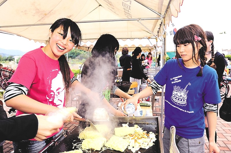 International cuisine is a big draw at the Univeristy Festival.