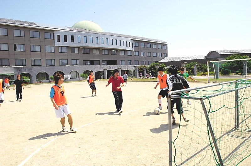 Students scrimmage in preparation for the soccer tournament.