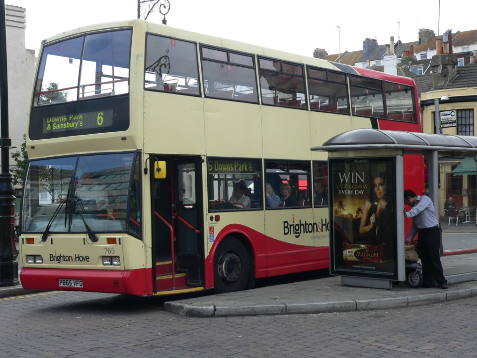 Another way to get around town is through Brighton's bus system. It's clean and easy to use.