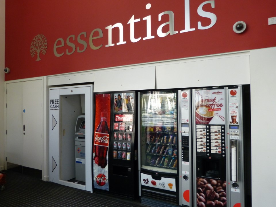Get the essentials: food, money, and a beverage!