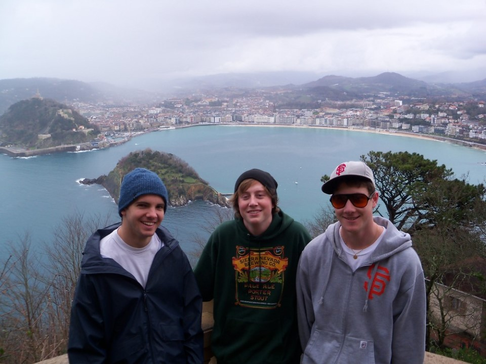 The boys enjoying the view from Monte Igueldo.