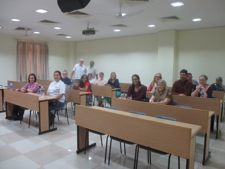 USAC students, staff and visiting professors at the first day of orientation.