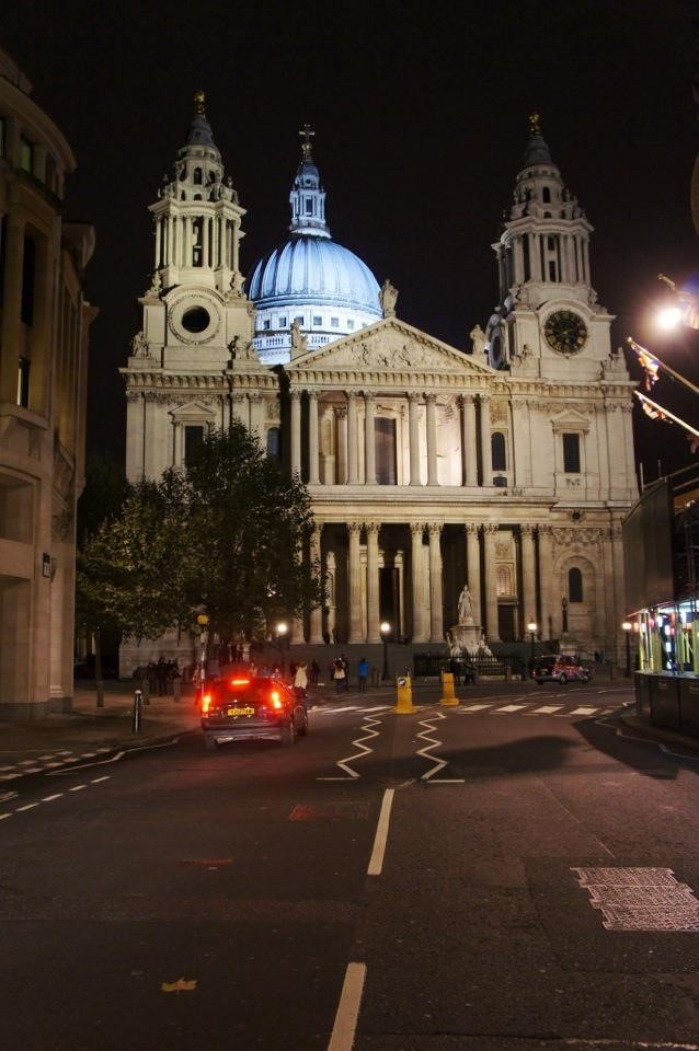 St. Paul's Cathedral is the seat of the Anglican Bishop of London. The Dome was constructed in three parts and designed by famous architect Christopher Wren.