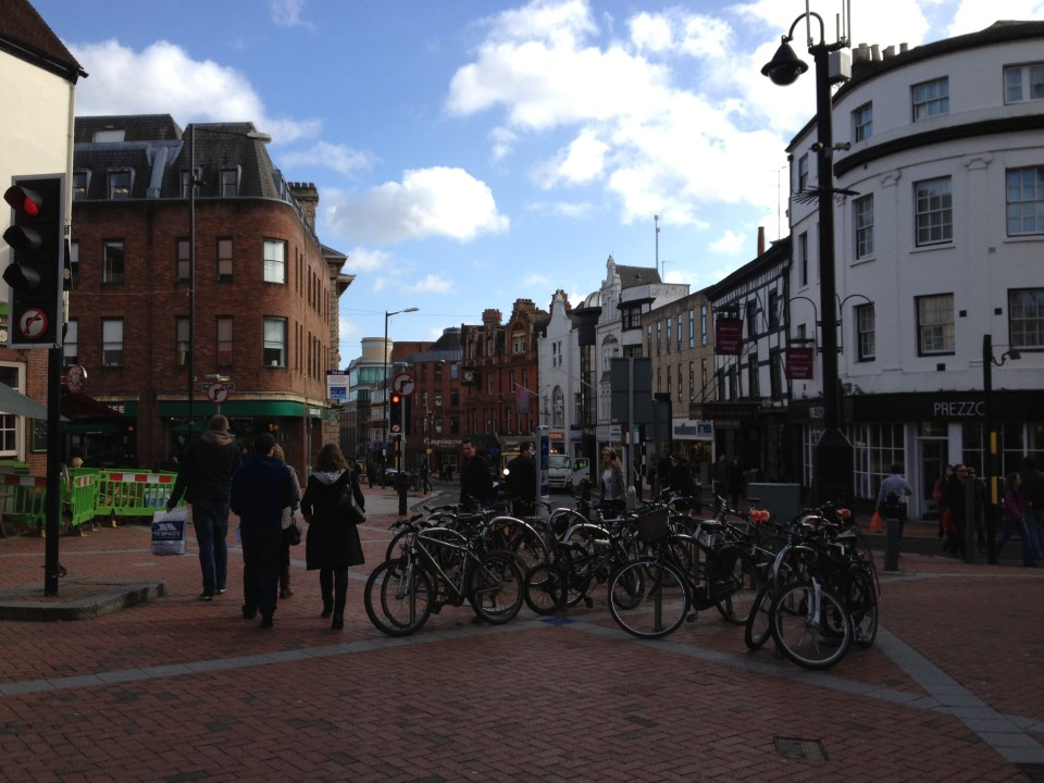 Reading Town Centre with its array of restaurants and shops. Did you know that Jane Austen attended school in Reading?