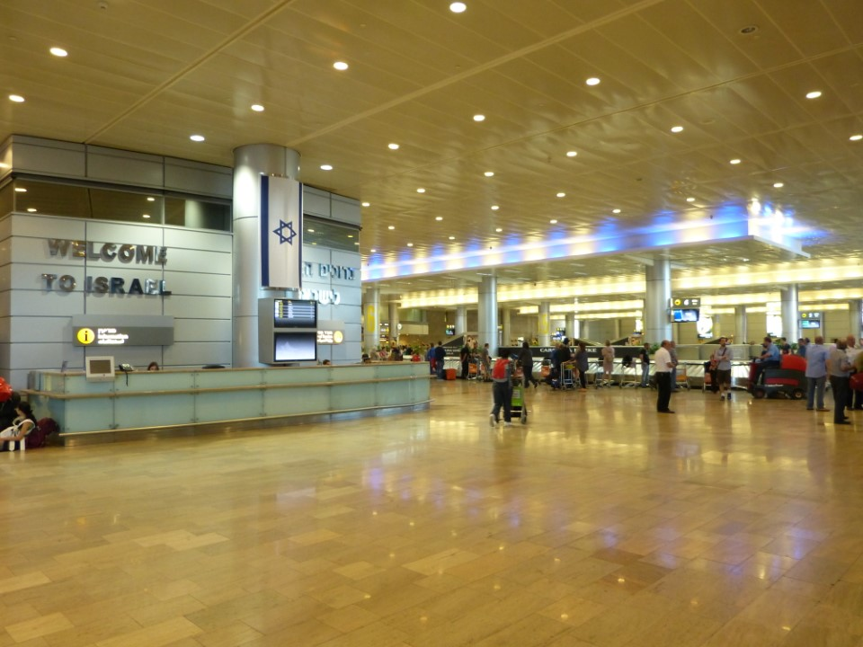 The Tel Aviv airport is a clean, modern airport for your arrival.