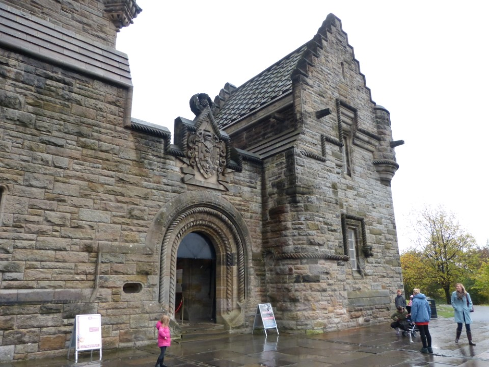 The Wallace Monument stands at Abbey Craig, where Wallace was said to have watched the army of King Edward I of England gather for the Battle of Stirling.