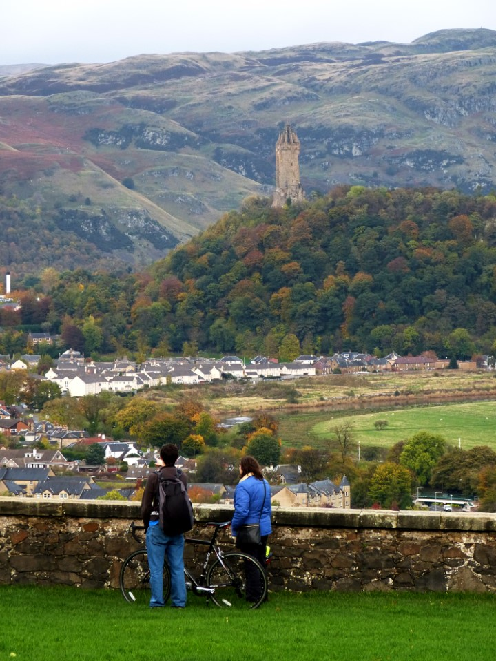 The Wallace Monument stands out against the mountainside. The monument was built to celebrate Sir William Wallace, the 13th century Scottish hero. It's about a 20 minute walk from campus.