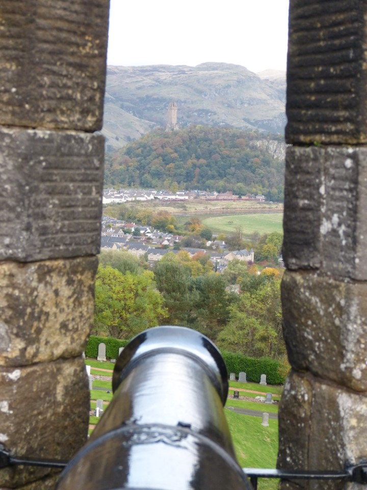 The canons adorning the outer defenses were cast in the 1800's, at the world-famous ironwork in nearby Falkirk.