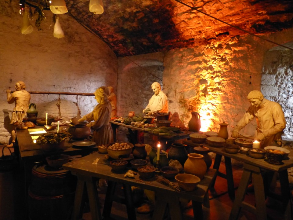 While there are no longer serfs cooking for kings within the castle's ancient kitchen, it's not hard to envision 15th century peasants preparing a feast.