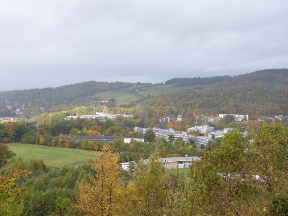 Take in the view of the beautiful campus of University of Stirling from the Wallace Monument.