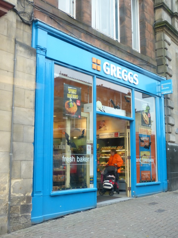 Greggs offers inexpensive grocery shopping, and is popular with students in the area.