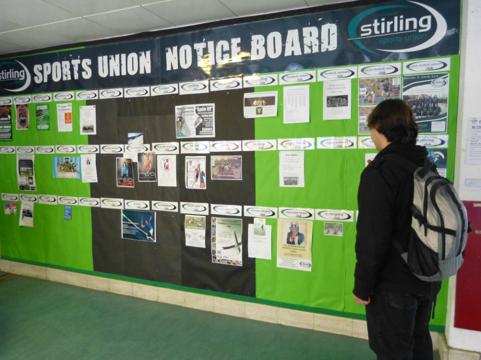 There are a wide variety of clubs and events around campus. Check out the notice boards at the sports union and stay in the loop!