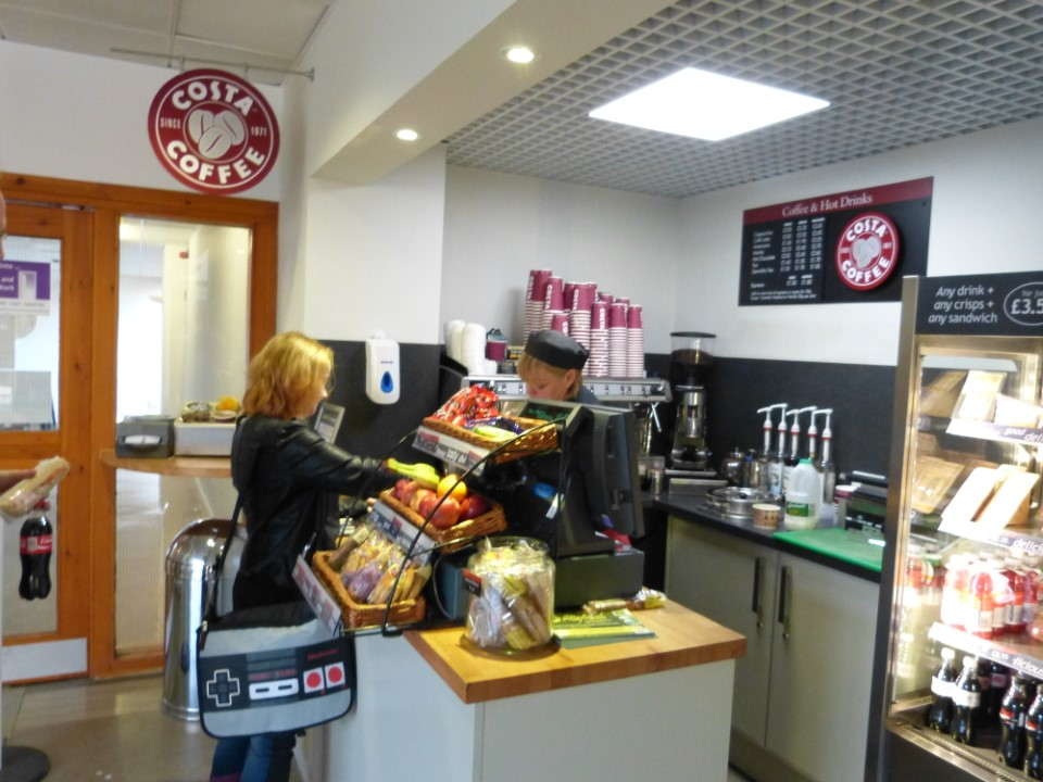 Looking for a little pick me up in the afternoon? Stop by Costa coffee in the Pathfoot building for some coffee.