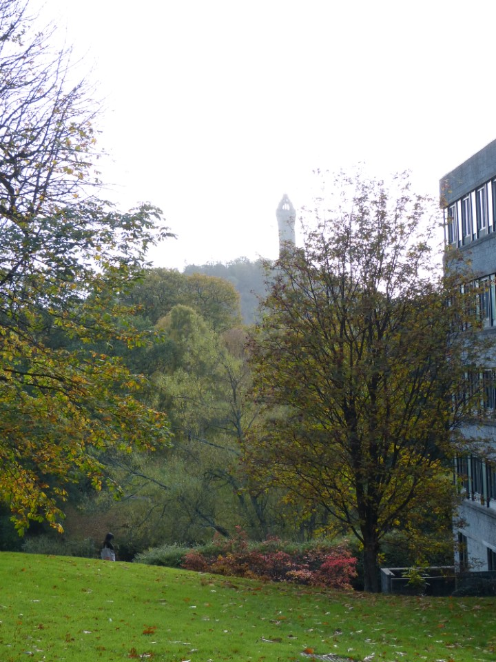 The historic campus is located in the lush foothills of Stirling, overlooked by the Wallace Monument.