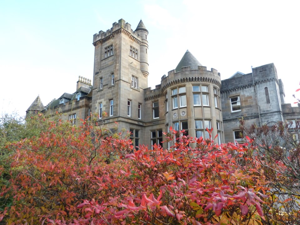 Airthrey Castle is home to the School of Law on the University of Stirling Campus.