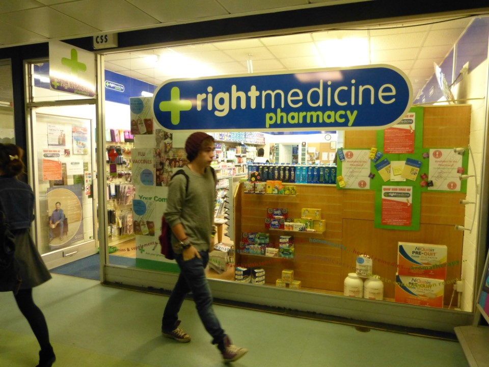There's also a pharmacy located in the student union.