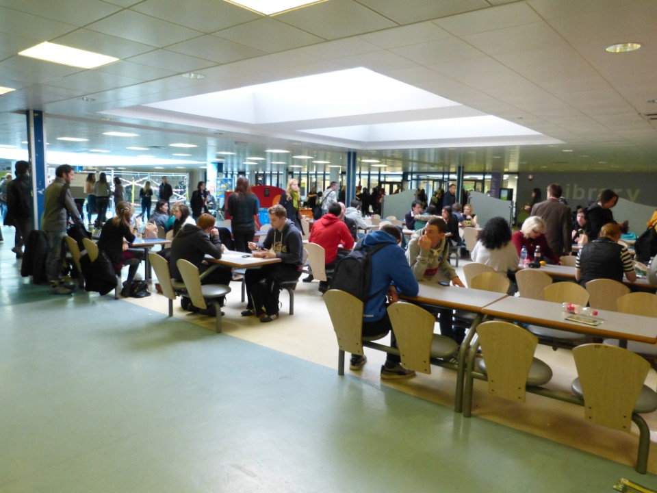 The student union is a popular place for students to spend time in between classes.