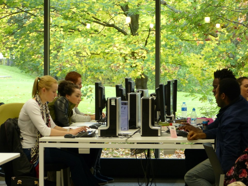 Computer labs are available for you to use in the library for homework or basic web browsing.