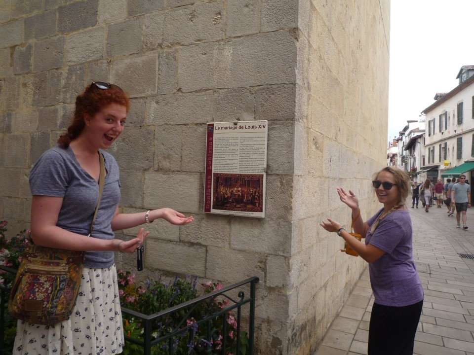 In front of the church were Louis XIV got married