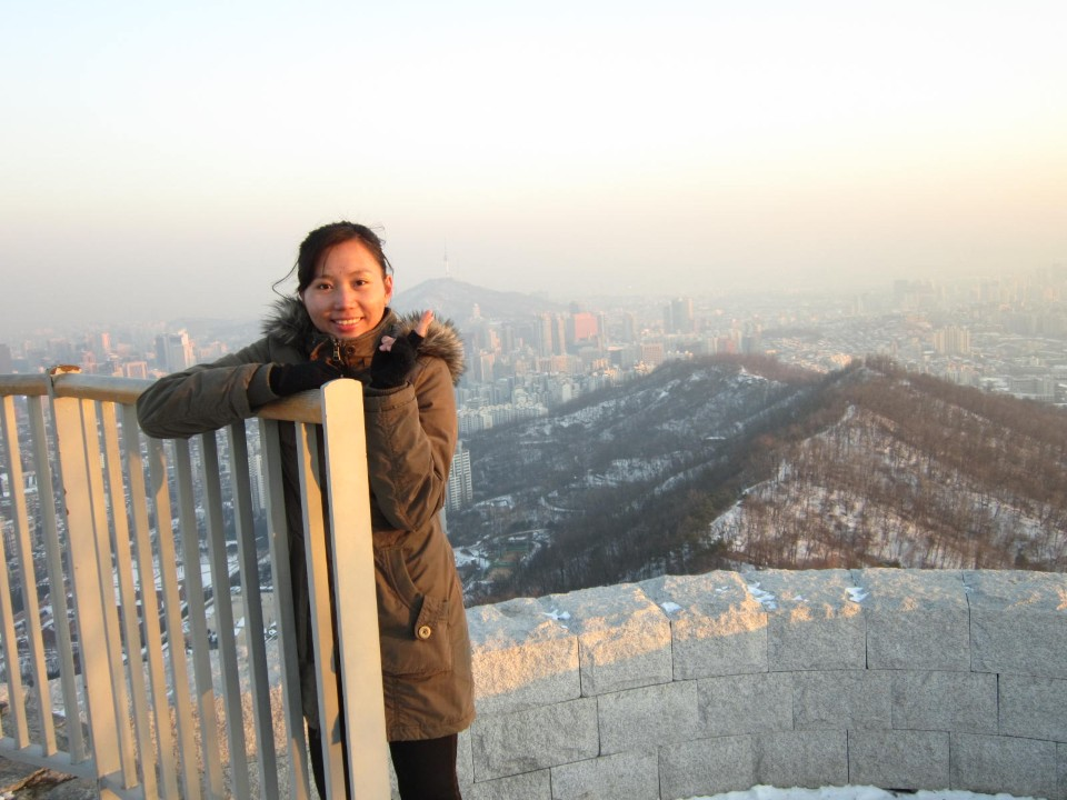 Reaching the top of the mountain behind Yonsei University
