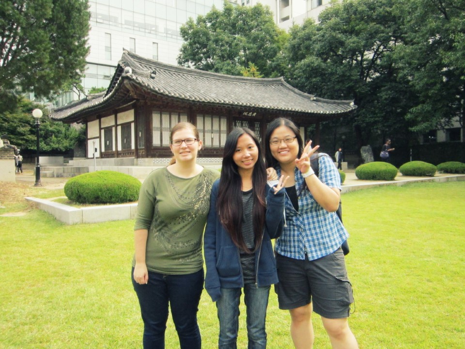 In front of Yonsei University's oldest preserved building