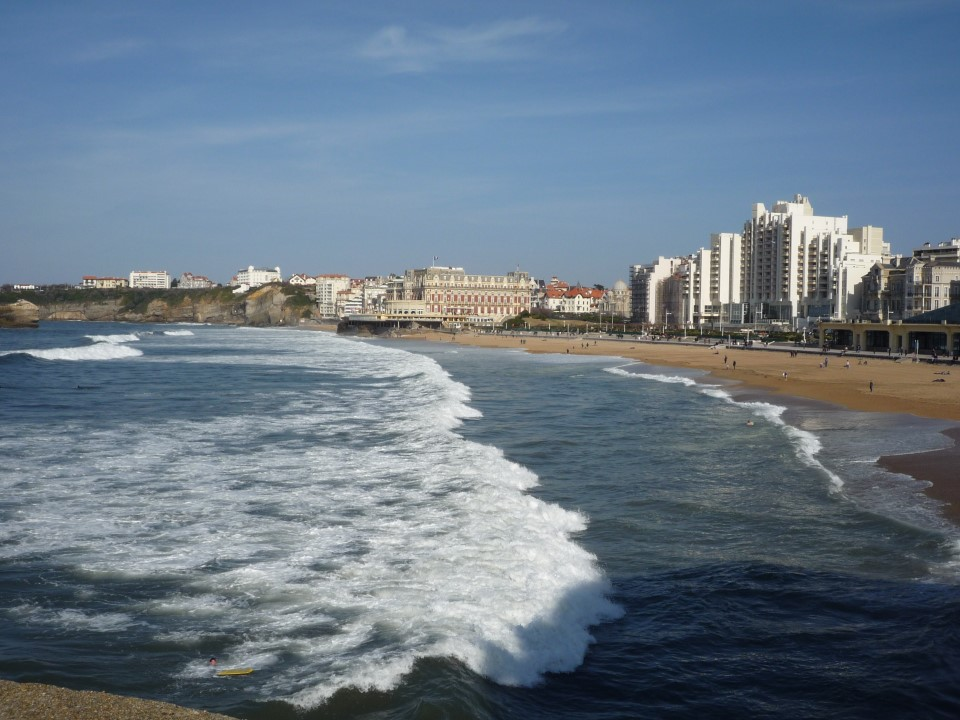 Biarritz is famous for its beautiful beaches