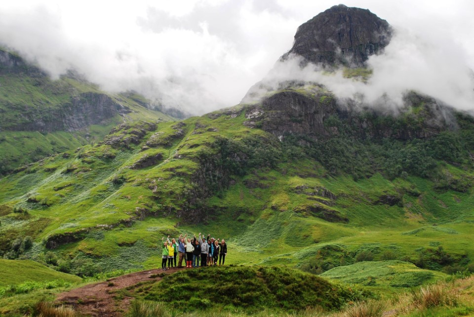 Glencoe is a glen of volcanic origins, in the Highlands of Scotland, which is U-shaped due to glacier movement during the Ice Age.