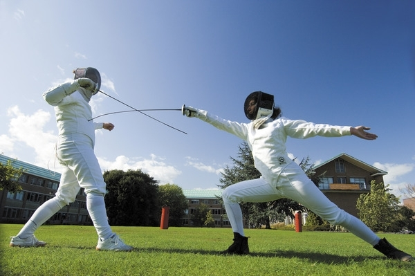Fencers wear white uniforms because before the advent of electronic scoring, touches were recorded on the white surface with a wad of ink-soaked cotton on the tips of the weapons. Join in and find out how much fun sword fighting can be!