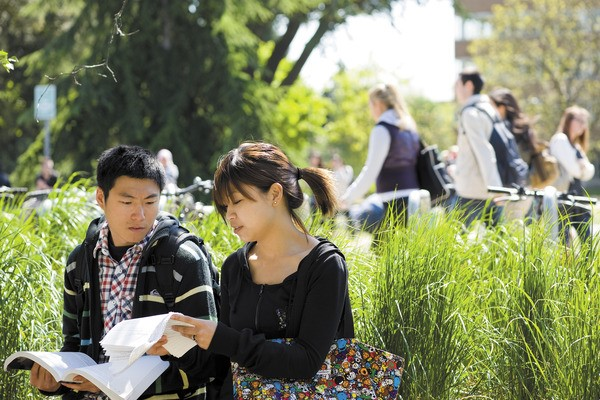There are plenty of places to study or chat around campus