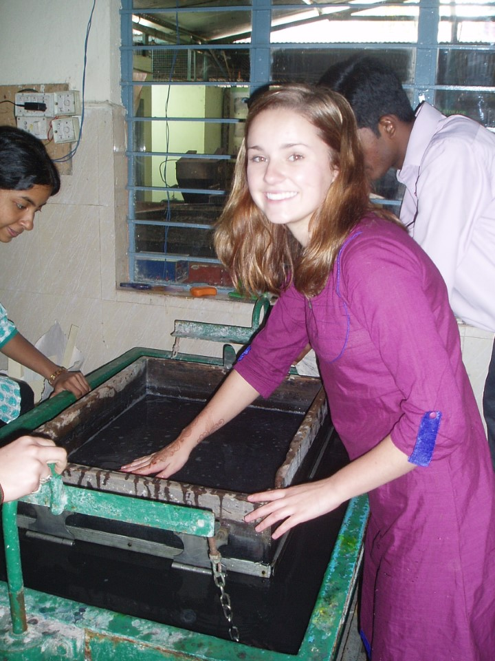 Christ University students are dedicated to making Christ a green campus. In order to fulfill this goal, the campus has its own recycling center, where paper products are made from the recycled material and resold to students. USAC students have the opportunity to work.