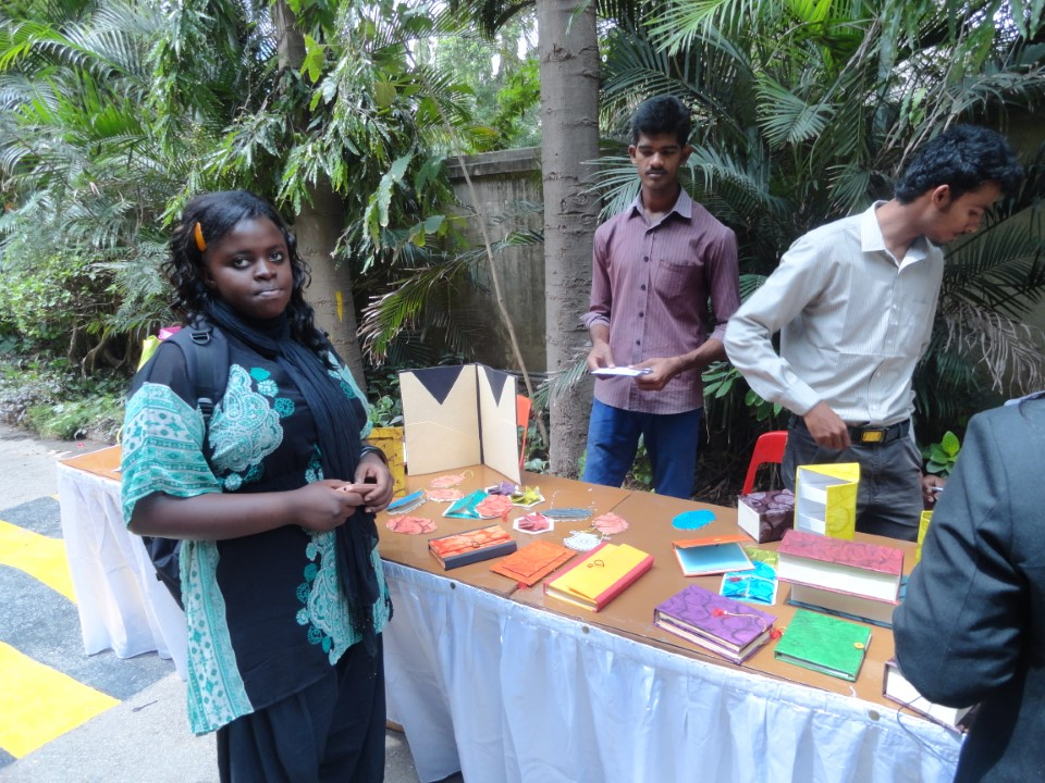 Christ University students sell their hand made, recycled products in order to fund current and future service projects. It's a great lesson in self-sufficiency!