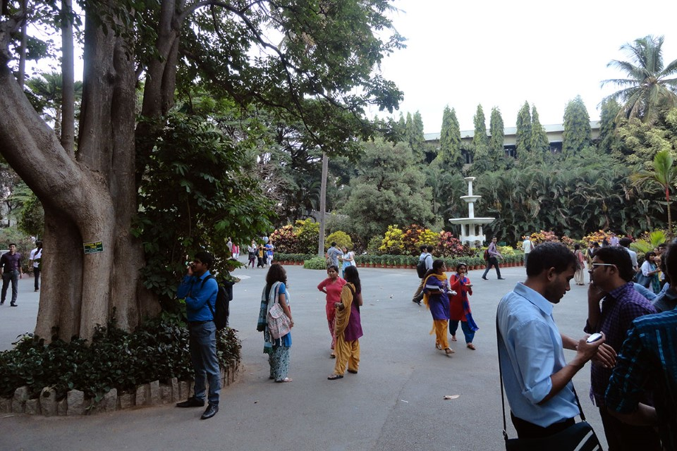 Christ University beautifully incorporates nature in the design and is always bustling with local students eager to share their culture.