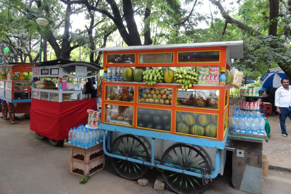 Fruit stands are everywhere in India and the fresh fruit available is delicious and inexpensive!