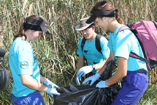 Local clean-up efforts as part of community interaction day.