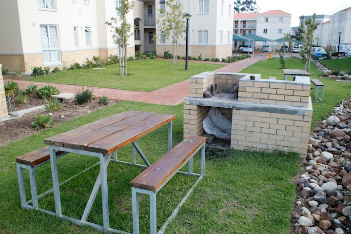 Braai (bbq ) area by student housing.