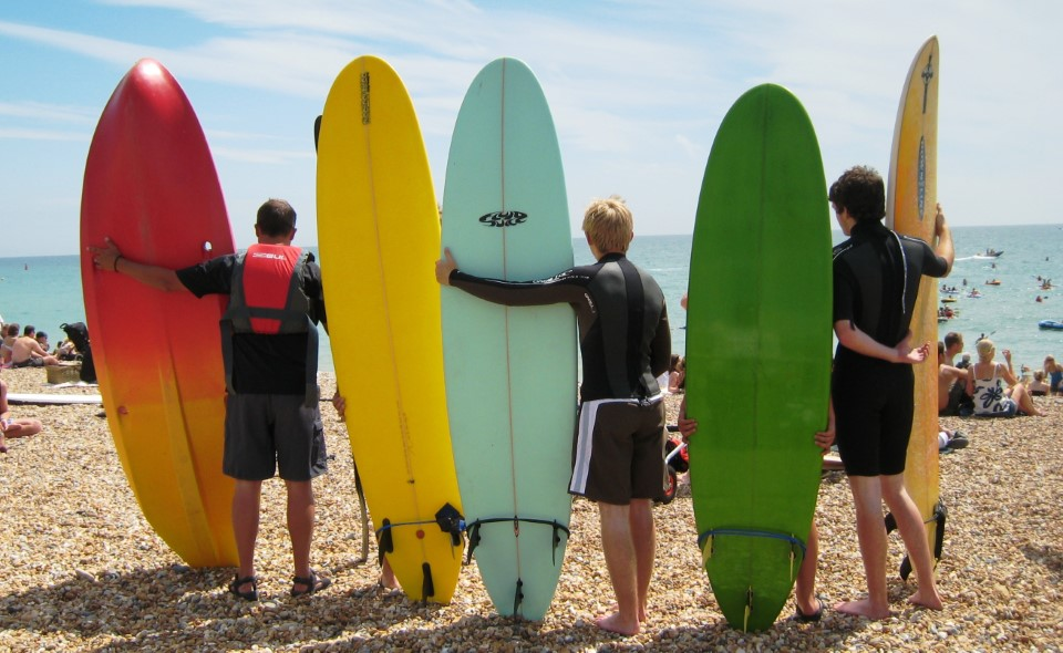 There is an area of Brighton Beach reserved for surfers and surfing is a great way to spend the day and enjoy the coast.