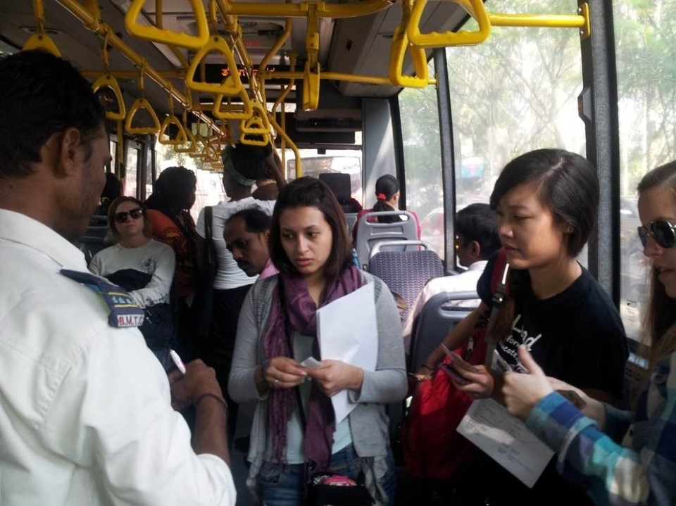 You can take the bus all over Bengalurufor a very reasonable rate.