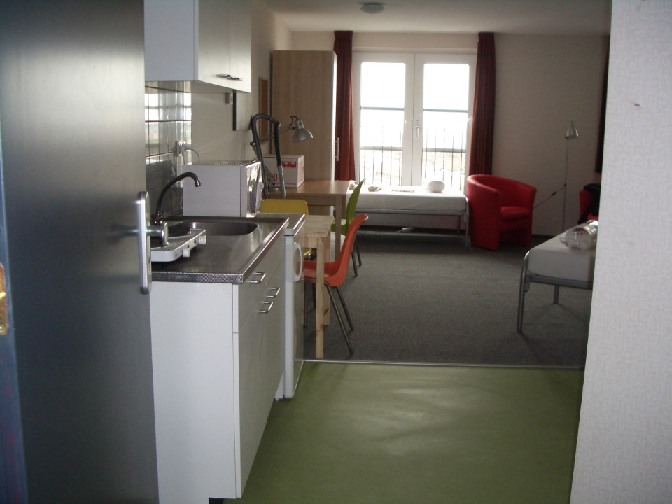 An example of off-campus living accommodations.