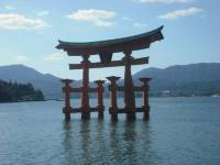 The Floating Gate in Miyajima. About an hour long train ride from Saijō (The closet city to Hiroshima University and the Ikenoue dorms).