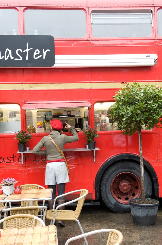 The Rootmaster is a renovated bus turned into a café where you can enjoy fresh, vegan options
