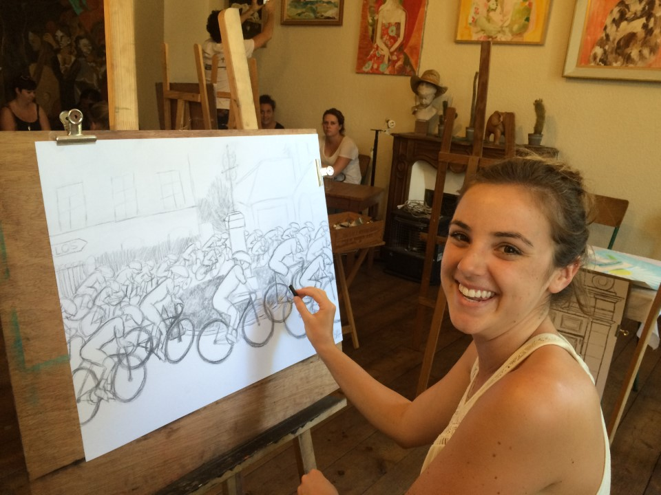 Drawing & Painting elective: the Tour de France is coming...