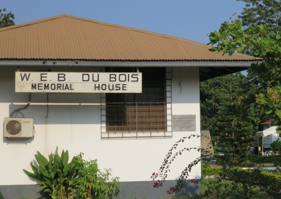 The W.E.B. Dubois Memorial House, which students visit as part of the Accra City Tour