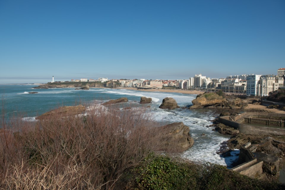 From up high Biarritz provides beautiful scenery of the coast