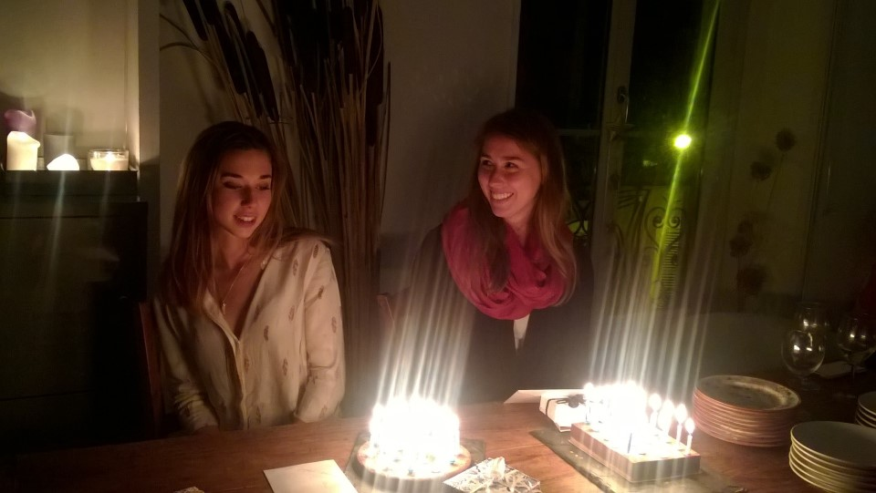 USAC student and host sister celebrating their birthdays together