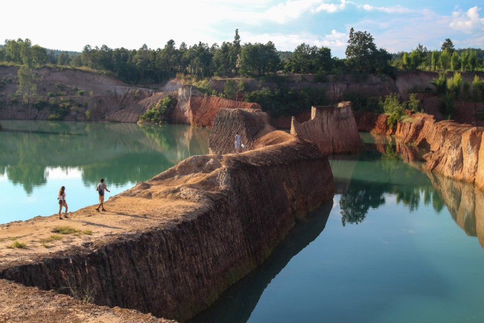 """Known as the """"Chiang Mai Grand Canyon,"""" this former construction site is a great place to swim close to the city"""