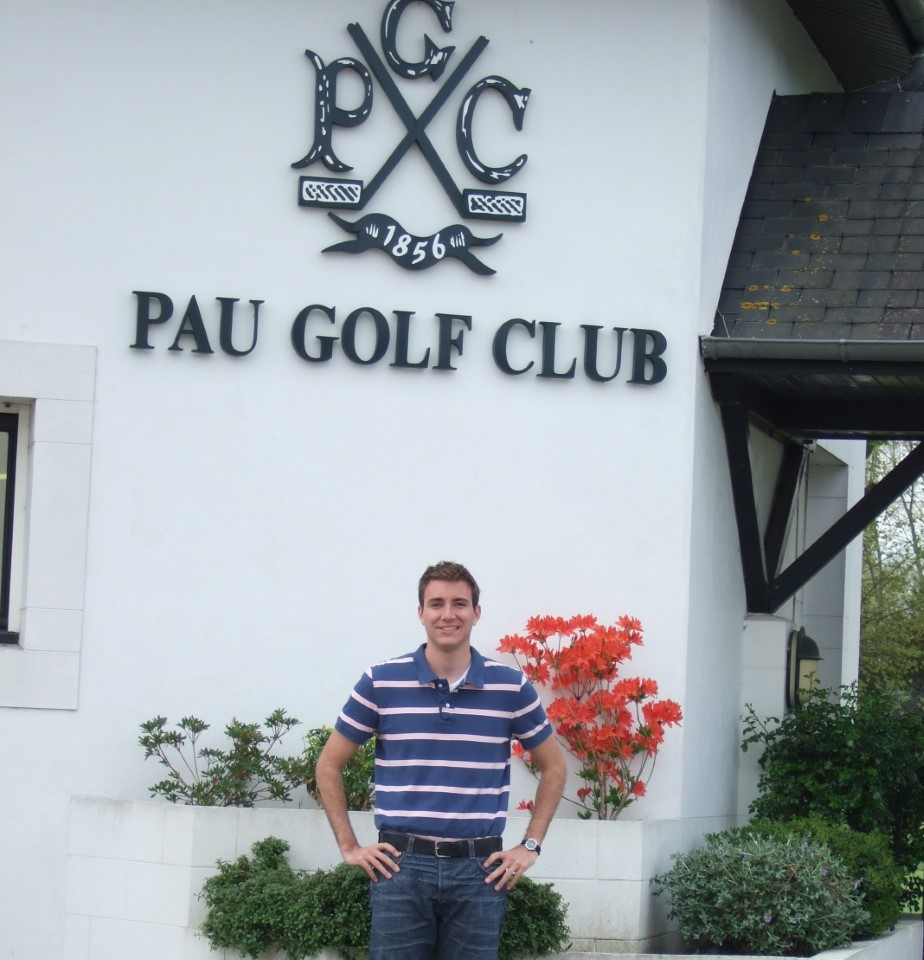 """The Pau Gold Club is the oldest golf club in continental Europe, so having the great privilege of doing my internship there was a huge honor. The best thing about doing this internship was all the contact I had with French people. The fact that I was treated as a member of the actual team and given important tasks was a definite plus.""  (David from UNLV, working for the Pau Golf Club)"