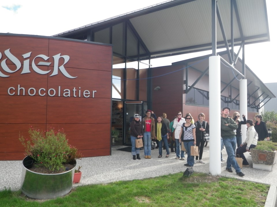 At the Verdier Chocolate Factory, students made some delicious purchases