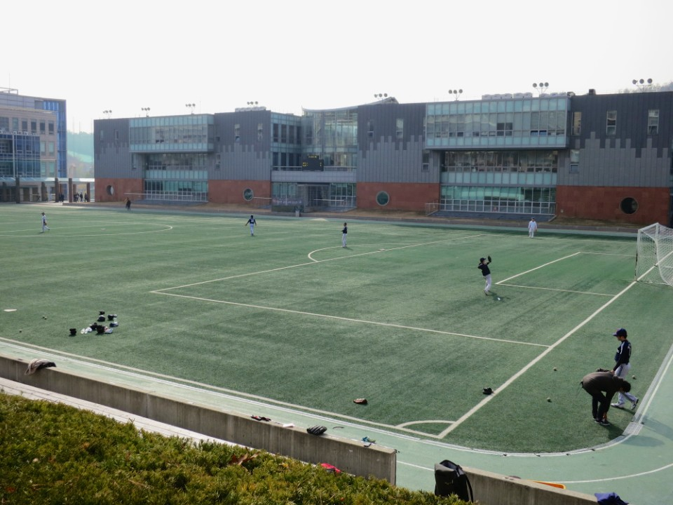 Soccer field, this time used for baseball
