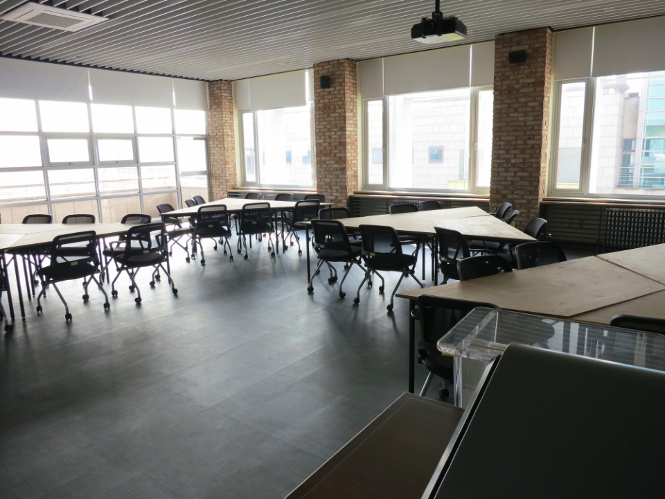 Classroom in business building