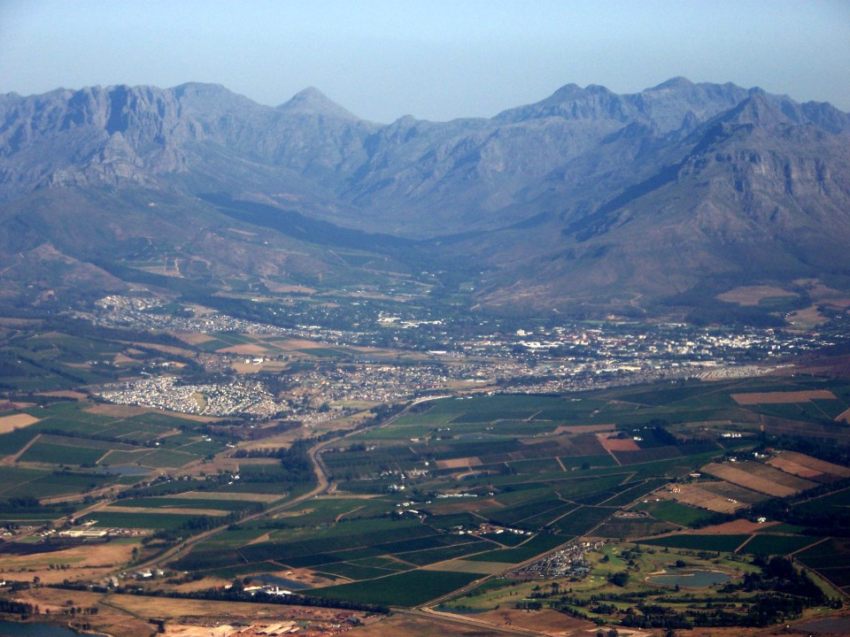 Aerial View of Stellenbosch